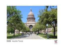 Austin Texas 2020 - White Edition - Timocrates wall calendar with UK holidays / picture calendar / photo calendar - DIN A4 (30 x 21 cm)