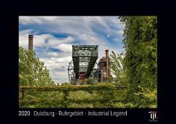 Duisburg - Ruhrgebiet - Industrial Legend 2020 - Black Edition - Timocrates wall calendar with UK holidays / picture calendar / photo calendar - DIN A3 (42 x 30 cm)
