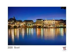 Basel 2020 - White Edition - Timocrates wall calendar with US holidays / picture calendar / photo calendar - DIN A3 (42 x 30 cm)