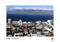 Reykjavik 2020 - White Edition - Timocrates wall calendar with US holidays / picture calendar / photo calendar - DIN A3 (42 x 30 cm)