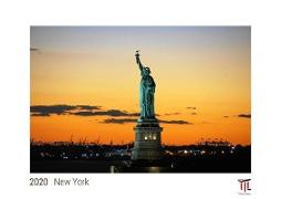 New York 2020 - White Edition - Timocrates wall calendar with US holidays / picture calendar / photo calendar - DIN A3 (42 x 30 cm)
