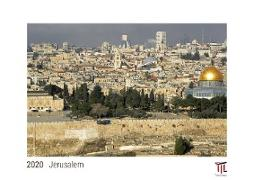 Jerusalem 2020 - White Edition - Timocrates wall calendar with US holidays / picture calendar / photo calendar - DIN A3 (42 x 30 cm)