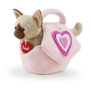 Katze in Tasche mit Herz
