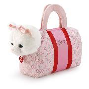 Katze in Tasche rosa