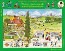 Wimmel-Rahmenpuzzle Sommer Motiv Bauernhof