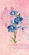Die Gärten der Künstler Schmales Notizheft Motiv Blaue Blume