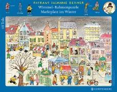 Wimmel-Rahmenpuzzle Winter Motiv Marktplatz 48 Teile