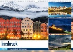 Innsbruck - Hauptstadt der AlpenAT-Version (Wandkalender 2020 DIN A4 quer)