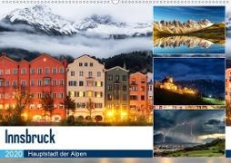Innsbruck - Hauptstadt der AlpenAT-Version (Wandkalender 2020 DIN A2 quer)