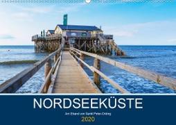Nordseeküste Am Strand von Sankt Peter-Ording (Wandkalender 2020 DIN A2 quer)