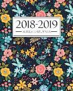 Semesterplaner 2018-2019: Semesterplaner 2018-2019: Oktober 2018 - September 2019: 19 x 23 cm: Blumenmuster 4183