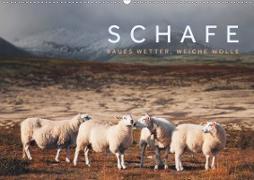 Schafe - Raues Wetter, weiche Wolle (Wandkalender 2020 DIN A2 quer)