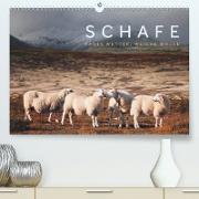 Schafe - Raues Wetter, weiche Wolle (Premium, hochwertiger DIN A2 Wandkalender 2020, Kunstdruck in Hochglanz)