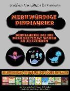 Druckbare Arbeitsblätter für Vorschulen: Merkwürdige Dinosaurier - Ausschneiden und Einfügen