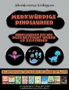 Scherenkenntnisse Kindergarten: Merkwürdige Dinosaurier - Ausschneiden und Einfügen