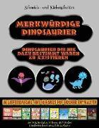 Schneide- und Klebearbeiten: Merkwürdige Dinosaurier - Ausschneiden und Einfügen
