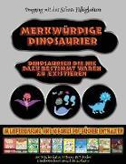 Umgang mit der Schere Fähigkeiten: Merkwürdige Dinosaurier - Ausschneiden und Einfügen