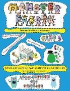 Vorschule Druckbare Arbeitsmappen: Ausschneiden und Einfügen -Monsterfabrik Band 3