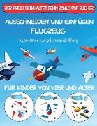 Aktivitäten zur Scherenausbildung: Ausschneiden und Einfügen - Flugzeug