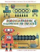 Vorschule Druckbare Arbeitsmappen: Ausschneiden und Einfügen - Roboterfabrik Band 1