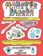 Vor-Kindergarten Schneidübungen: Ausschneiden und Einfügen -Monsterfabrik Band 2