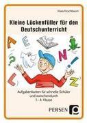 Kleine Lückenfüller für den Deutschunterricht