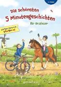 Die schönsten 5 Minutengeschichten für Erstleser (Mädchen Jungen), 2. Klasse - Leichter lesen mit Silbenfärbung - Kinderbücher ab 7-8 Jahre