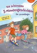 Die schönsten 5 Minutengeschichten für Leseanfänger (Mädchen Jungen), 1. Klasse - Lesenlernen mit Silbenfärbung - Kinderbücher ab 6-7 Jahre