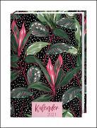 Tropical Leaves Kalenderbuch A5 Kalender 2021