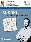 Stefan Heine Sudoku schwierig bis extrem 2021 - Tagesabreißkalender -11,8x15,9 - Rätselkalender - Sudokukalender