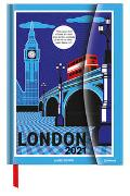 James Brown in London 2021 - Diary - Buchkalender - Taschenkalender - Kunstkalender - 16x22