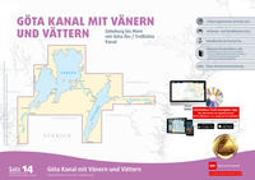 Sportbootkarten Satz 14: Götakanal mit Vänern und Vättern (Ausgabe 2020)