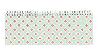 Tisch-Querkalender Style Retro 2021 - Büro-Planer 29,7x10,5 cm - Tisch-Kalender - 1 Woche 2 Seiten - Ringbindung - Alpha Edition