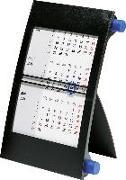 rido Tischkalender 2021, 3-Monatskalender Drehknopf blau