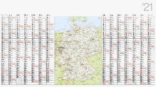 rido Plakatkalender 2021 mit Landkarte Deutschland