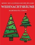 Malbücher für 2-Jährige (Weihnachtsbäume)