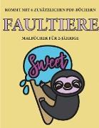 Malbücher für 2-Jährige (Faultiere)