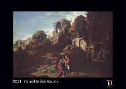 Gemälde des Barock 2021 - Black Edition - Timokrates Kalender, Wandkalender, Bildkalender - DIN A3 (42 x 30 cm)