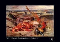 Eugène Ferdinand Victor Delacroix 2021 - Black Edition - Timokrates Kalender, Wandkalender, Bildkalender - DIN A3 (42 x 30 cm)