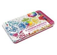 Colorful World Designdose mit 12 Premium-Buntstiften