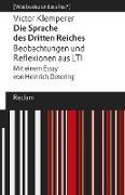 »Die Sprache des Dritten Reiches«. Beobachtungen und Reflexionen aus LTI