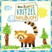 Mein buntes Kritzel-Malbuch (Roter Panda)