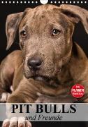 Pit Bulls und Freunde (Wandkalender 2021 DIN A4 hoch)