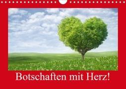 Botschaften mit Herz! (Wandkalender 2021 DIN A4 quer)