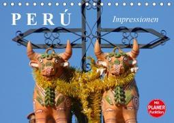 Perú. Impressionen (Tischkalender 2021 DIN A5 quer)