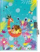 Trötsch Tagebuch mit Pailletten Pfau