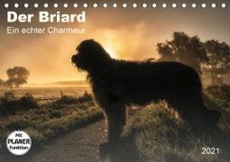 Der Briard 2021 - Ein echter Charmeur (Tischkalender 2021 DIN A5 quer)
