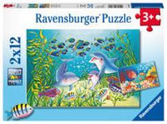 Auf dem Meeresgrund. Puzzle 2 x 12 Teile