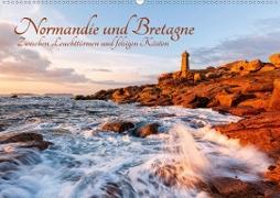 Normandie und Bretagne: Zwischen Leuchttürmen und felsigen Küsten (Wandkalender 2021 DIN A2 quer)