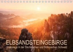 Elbsandsteingebirge: Unterwegs in der Sächsischen und Böhmischen Schweiz (Tischkalender 2021 DIN A5 quer)